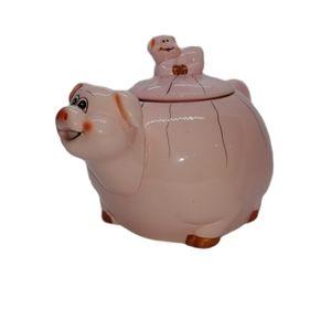 Pink Pig Ceramic Teapot, 4 Cup